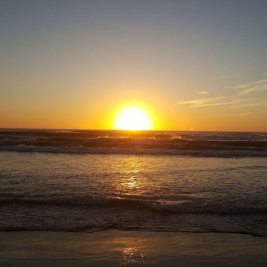 Sun Sunset Sea Sea And Sky Sunrise Ocean Horizon Over Water Water Horizon Sky Shore The Week On EyeEm EyeEmNewHere Low Tide Tide Voyage Coastal Feature Trip Seascape Romantic Sky Holiday