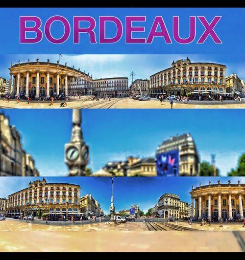 Centre de Bordeaux Ville Bordeaux France Panoramic Panorama Panoramique