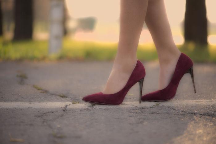 High heels Fashion Heels High Heels ❤ Close-up Fashion&love&beauty Human Leg Legs On The Road Red High Heels Women