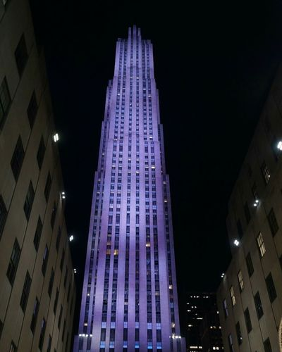 NYC Rockerfellercenter Manhattan Night Beautiful Building Skyscraper The Architect - 2017 EyeEm Awards