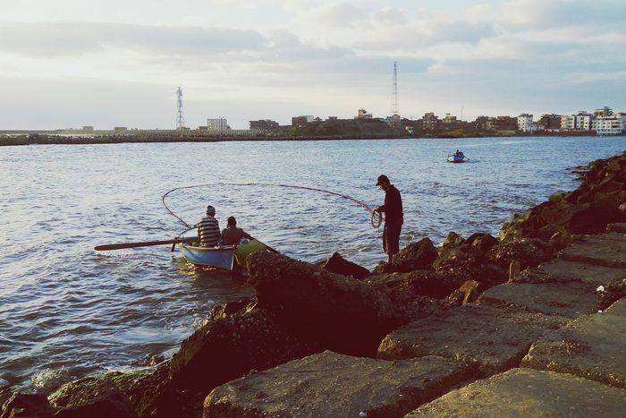Boat Boat Water Sea Fishing Fisherman Morning Hello World People Boats Egypt Damietta River Nile River NileRiver