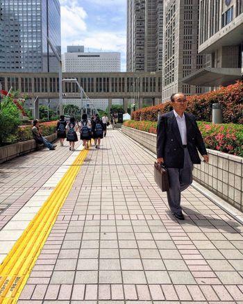 Salaryman, Shinjuku. NEM Architecture Mobilephotography ChimpsInJapan Mobile Photography Shootermag Youmobile NEM Street Streetphotography Architecture Building City Life Perspective Office Building Travel Destinations