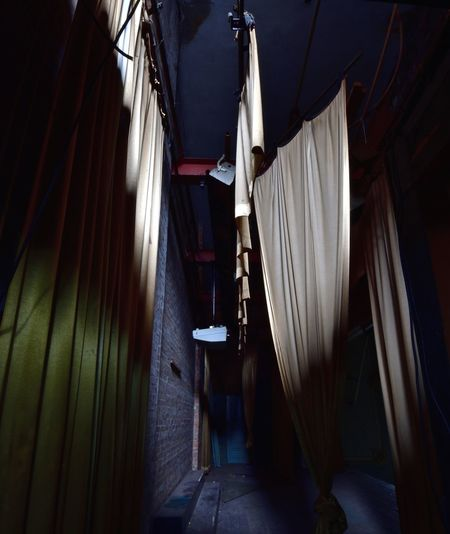 Abandoned Abandoned Buildings Abandoned Places Architecture Building Exterior Built Structure Curtain Day Derp Drying Hanging Indoors  No People Stage Textile Urban Decay