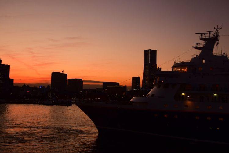 Yokohama Sunset Minatomirai Sunset_collection From The Pier Japan