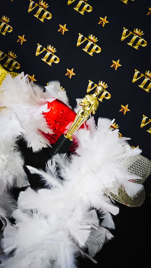 Vip Photography Photo Photocall Oro Partyy Party Black Background Studio Shot Paper Close-up