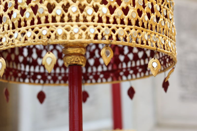 Tiered Pattern Thai Art Beautifully  Close-up Day Gold Colored