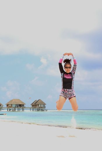 Beach Beauty In Nature Blue Casual Clothing Cloud Cloud - Sky Enjoyment Horizon Over Water Leisure Activity Lifestyles Nature Relaxation Scenics Sea Shore Sky Tranquility Vacations Water The Great Outdoors - 2016 EyeEm Awards