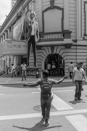 Kuala Lumpur July 23, 2016 Black And White Black And White Photography Cinema City Street Coliseum India Movie Kabali Kuala Lumpur Mahfuz Jaffar Rajinikanth Street Street Life Street Photography Super Star Tamil Movie