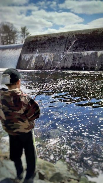 Sea Only Men One Man Only Industry Men Water Adults Only Outdoors Day One Person People Adult Working Protective Workwear Nature Sailor Fishing Spillway Waterfall Lake