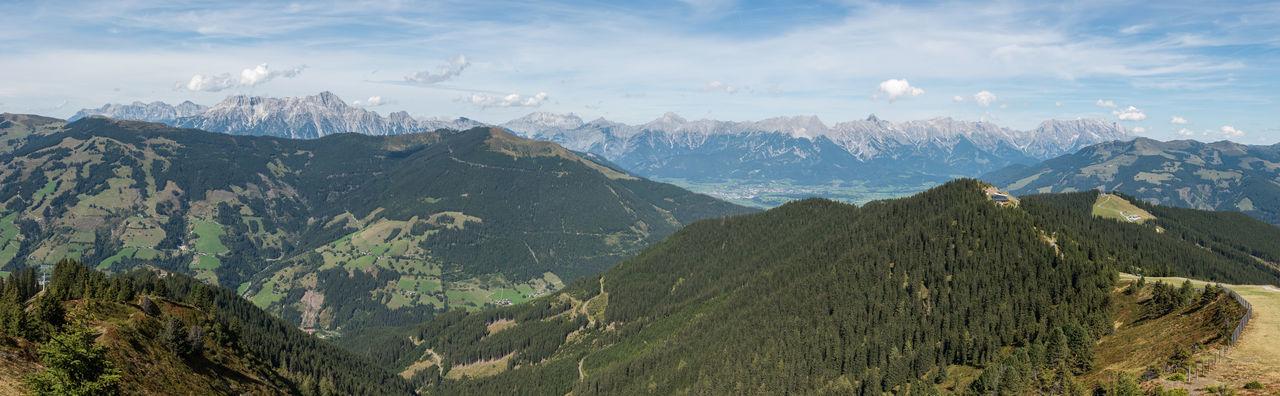 Berge HDR Himmel Panorama Pinzgau Salzburger Land Schmittenhöhe Spätsommer  Wolken Zell Am See Steinernes Meer Österreich