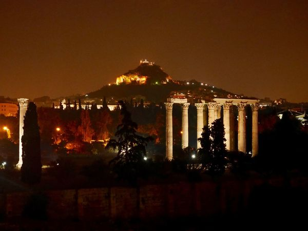 Ancient Architecture Ancient Civilization Architecture Athens Athens, Greece City City Life Cityscape Historical Sights History Illuminated Landscape Light Lycabettus Mountain Nature Night Outdoors Sky Zeus Home Is Where The Art Is Home Sweet Home EyeEm Best Shots Eye4photography  EyeEmBestPics