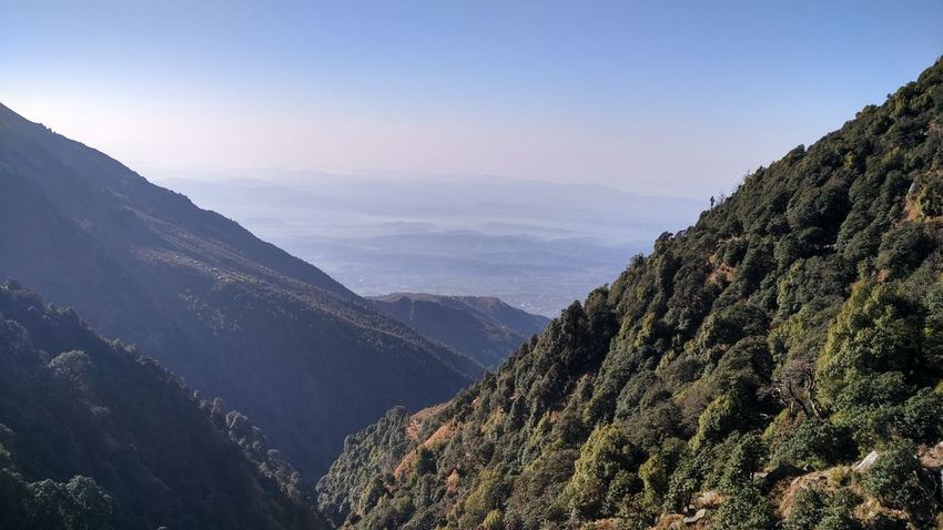 Himachal India Mountains And Sky Natura Treking View From Triund