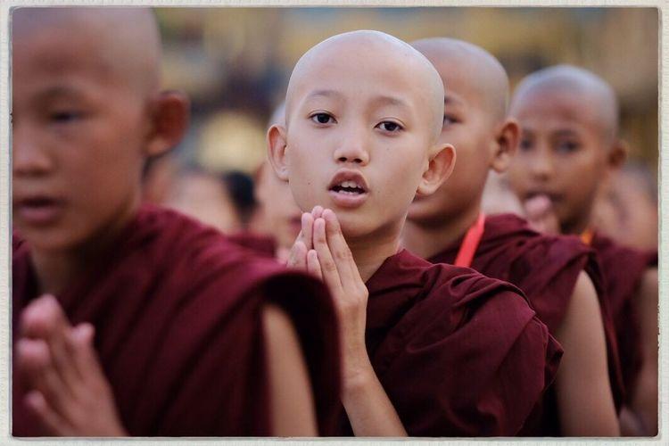 Young monks at Swedagon Pagoda, Yangon, Myanmar