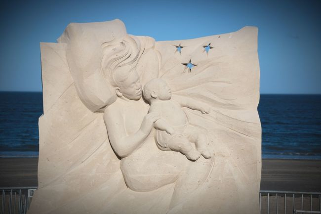 Sandsculpture Summer Festival Summer2018 Revere Art Ocean Nature Summerdays☀️ Canon Canonphotography Sea Beach Water Sand Sky Horizon Over Water Close-up