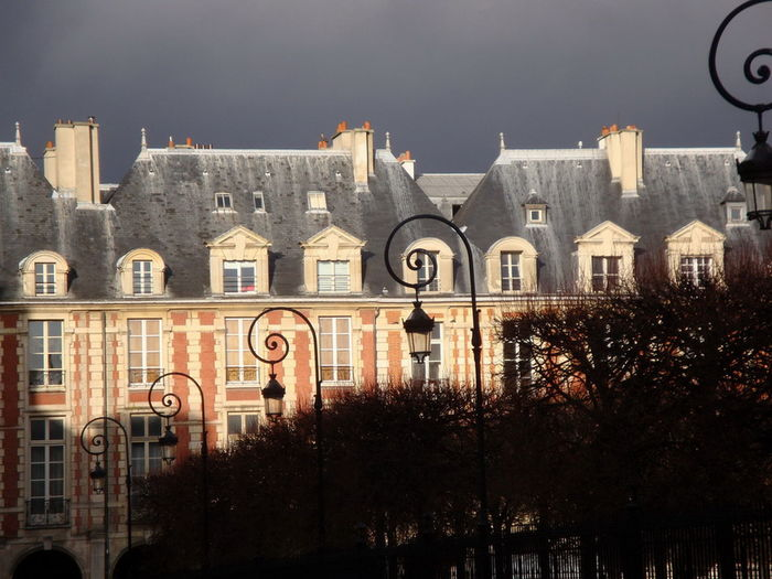 Historic Building At Place Des Vosges Against Sky
