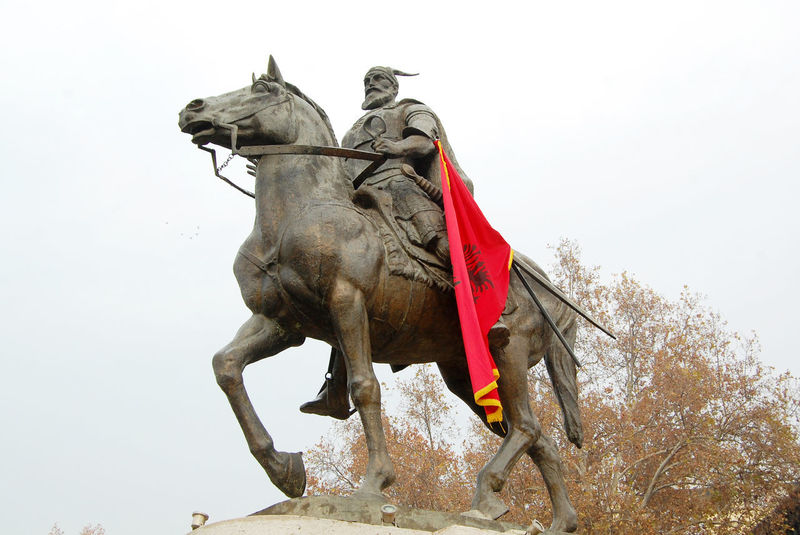 statue of skenderbeg in skopje, macedonia Albania Day Flag Gjergjskenderbeu HERO Horse Iskender Monument Outdoors Skenderbeg Skenderbeu Skopje Statue Statue In The City