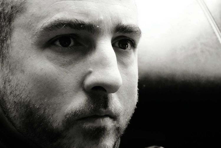 Close-Up Of Serious Man