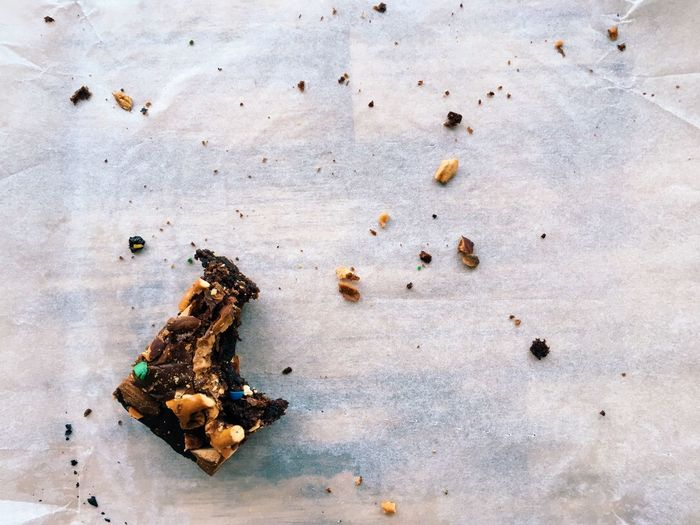 Cook  Cake Homemade Almonds Pretzel Chocolate Food Bake Brownie Crumbs Bite Eat Cooking Baking Cook  Cake No People High Angle View Food And Drink Group Of Animals Table Food Indoors  Healthy Eating Freshness Still Life Day Directly Above