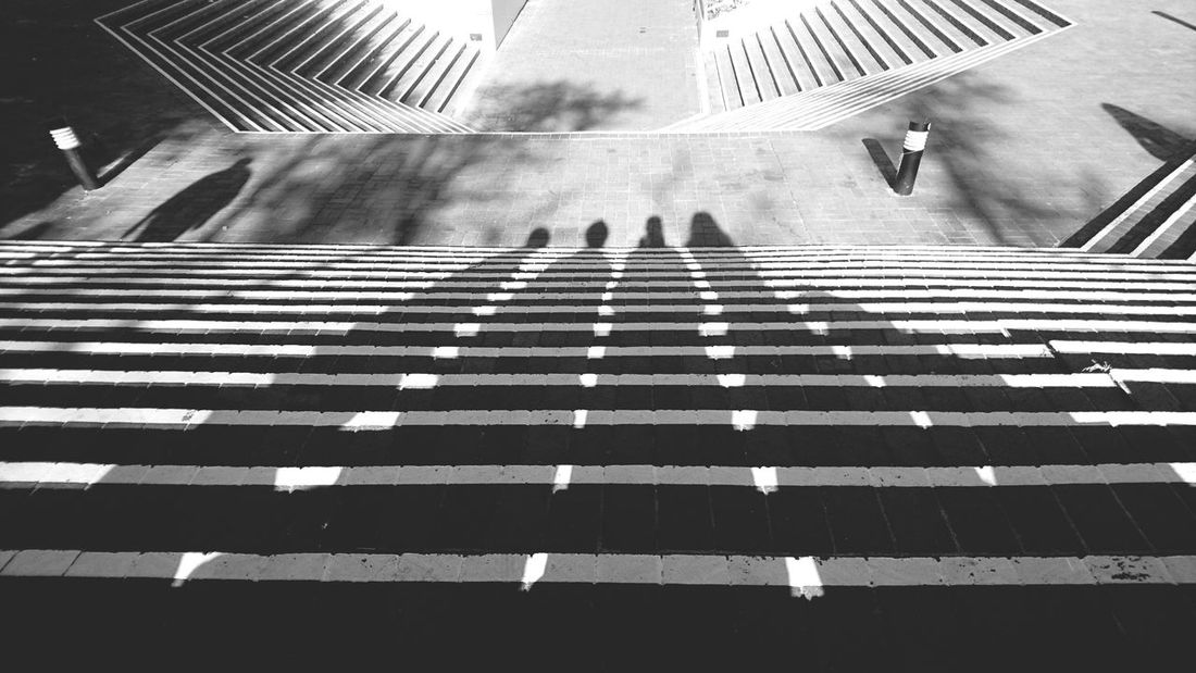 Built Structure Pattern Architecture Day Steps And Staircases Large Group Of People Outdoors Student Life Freedom Relaxed Shady Spotlight Sunbeam Mornings Friends People