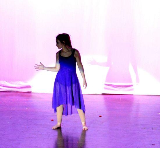 DanceShow Purple Shadow Beautiful Showing Imperfection