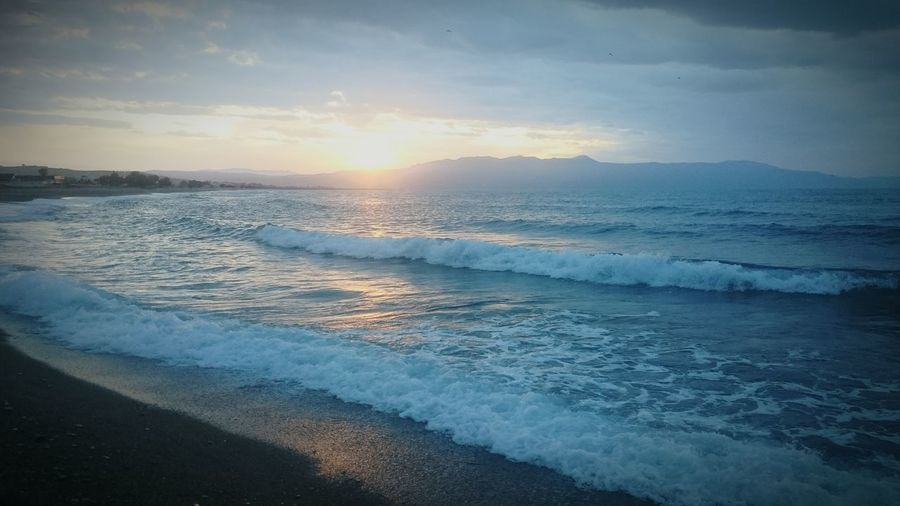 Sunset At The Beach In Crete Gerani Viaros Hotel Apart. Greece, Crete Best Of Crete Crete