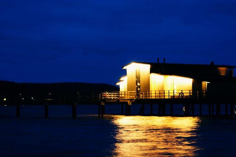 november night in Bastad Night Lights Sea