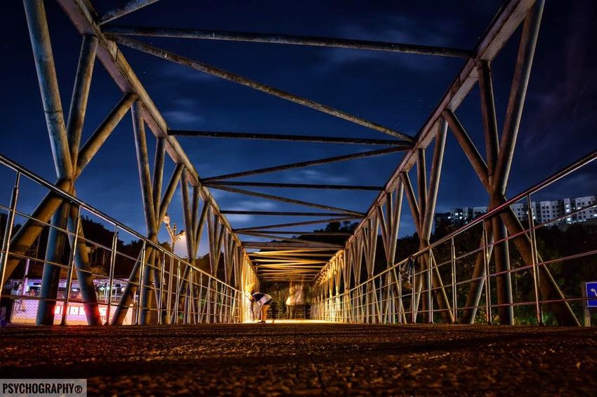 Citylife Bridge Bridge - Man Made Structure Night Architecture Outdoors Lighting Mumbai_uncensored Soi_india