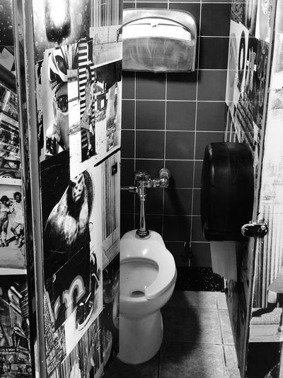 Graffiti in bathroom at home