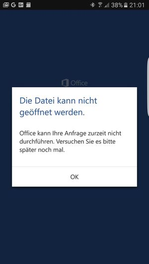 Failure  Office Microsoft Fehlermeldung Word Smartphone Printscreen Coruption