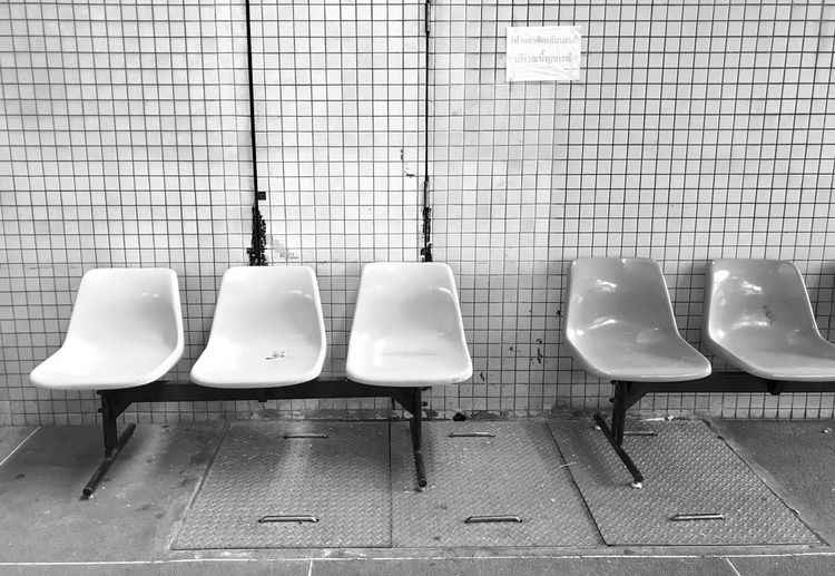 In A Row Urinal Empty Absence Public Building Public Restroom No People Tile Indoors  Hanging Convenience Day Hygiene