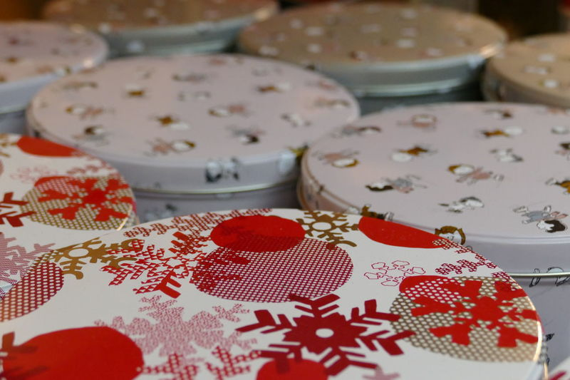 Box Christmas Abstract Backgrounds Can Close-up Day Fund Indoors  No People Object Pattern Red Color Storage Storage Boxes Texture Wallpaper