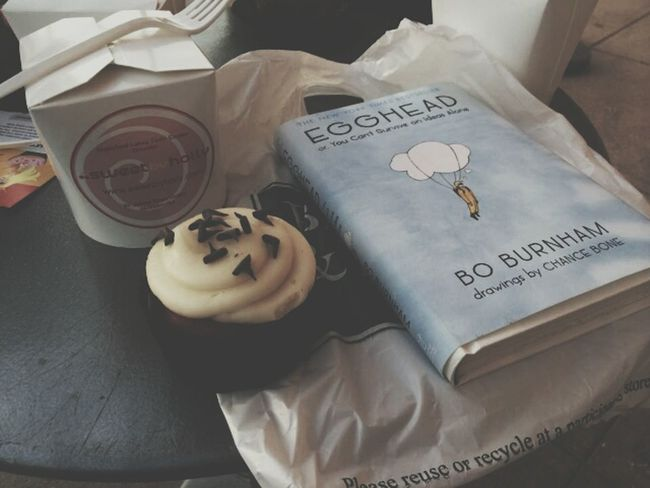 All i need is a good book and something sweet to eat.
