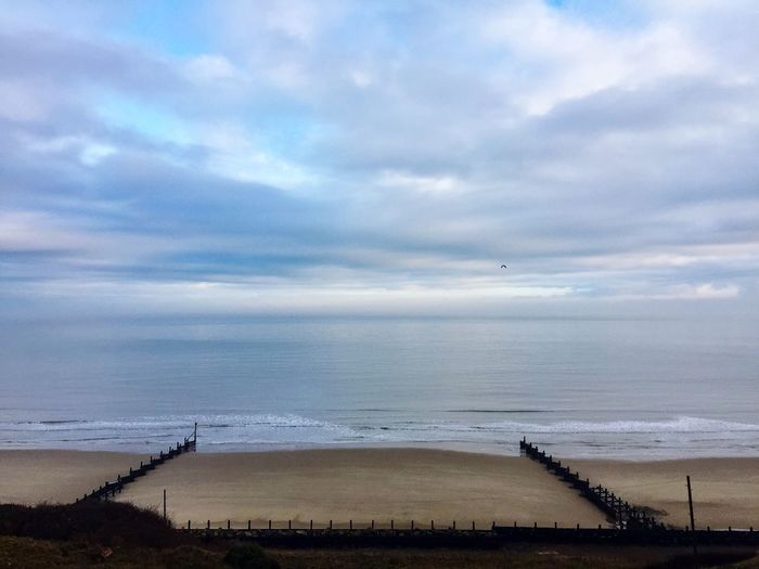 When the world is your oyster Sea Sky Water Horizon Over Water Beach Cloud - Sky Scenics Tranquility Outdoors Nature Beauty In Nature Tranquil Scene No People Day Sand Cromer Norfolk England
