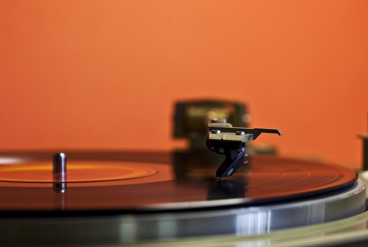 Record Player With Orange Vinyl