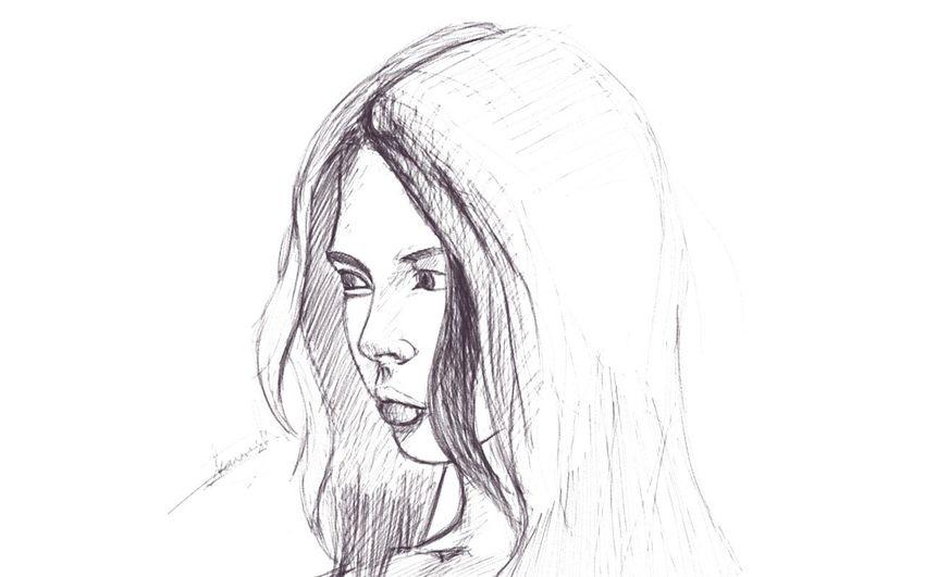 A five min sketch... Sketchbook Digital Painting Doodling Stillinprogress Folowme Drawing