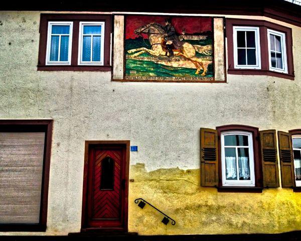 Window Architecture Building Exterior Built Structure Door No People Sunlight Brick Wall Outdoors Multi Colored Fresco Day Anto Filipovic Napoleon Bonaparte Maine