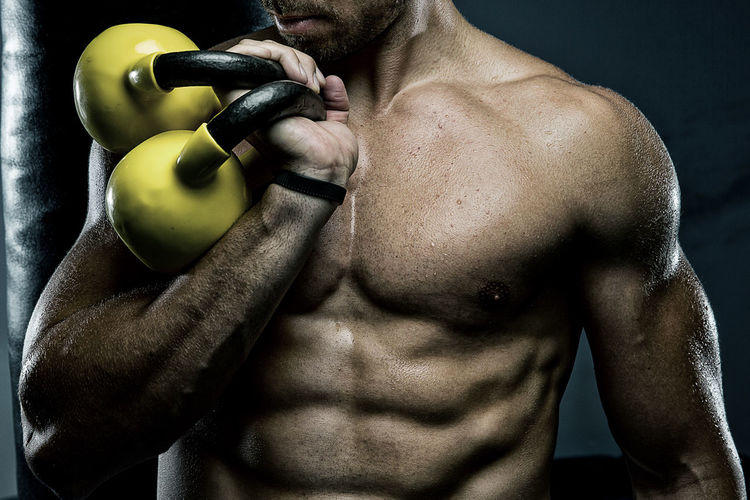Dumbbells Shirtless Strength Muscular Build Healthy Lifestyle Exercising Wellbeing Athlete Lifestyles Vitality Sport Men One Person Adult Sports Training Young Men Body Building Indoors  Gym Body Part Weight Chest Masculinity Weight Training  Abdominal Muscle My Best Photo