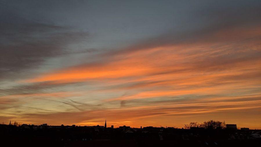 Hamburg sunset.