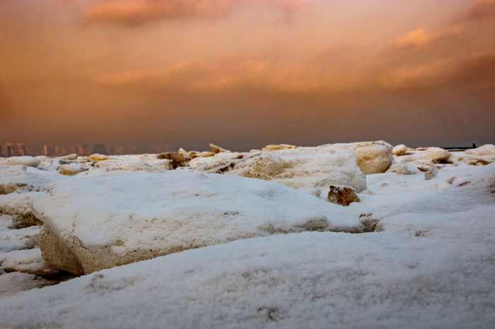 Frozen Hebei Ice Seashore Winter Beach Beauty In Nature Beidaihe China Cloud - Sky Cold Temperature Day Nature No People Outdoors Qinhuangdao Scenics Sea Seascape Seaside Sky Snow Sunset Tranquil Scene Tranquility