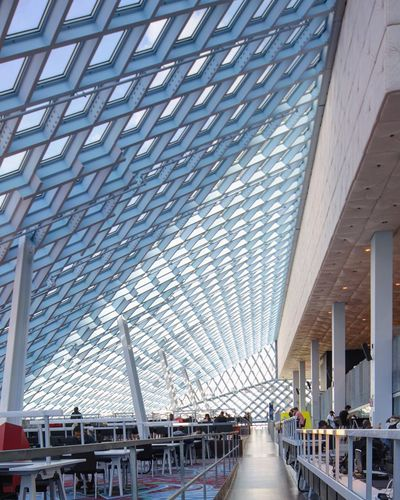 Diagonal Architectural Feature Architectural Detail Contemporary Rem Koolhaas Library Library Building Architectureporn Seattle Public Library Seattle Postwar Architecture Postmodern Architecture Architecture Architecture Built Structure City Modern Ceiling Building