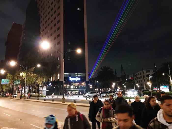 Ciudad Viva Night Illuminated Cdmx
