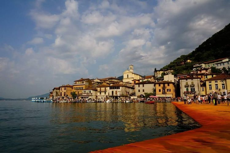 The Floating Piers By Christo The Floating Piers Iseo Lake Iseolake Italy Montisola Lake View Art And Nature Christo And The Floating Piers My Year My View