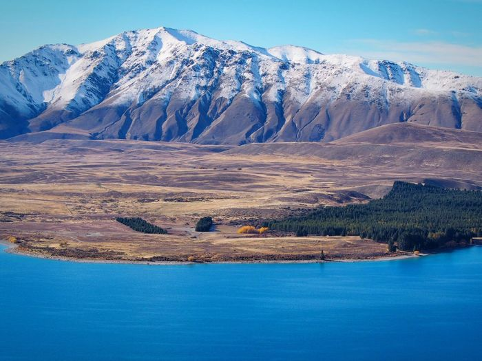 Snowcapped Mountain Mountain Beauty In Nature Scenics Snow Nature Landscape Mountain Range Tekapo New Zealand New Zealand Beauty New Zealand Scenery New Zealand Impressions New Zealand Landscape South Island