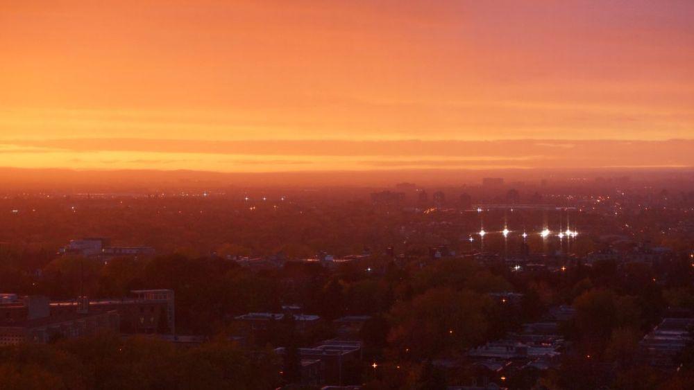 Burning Sunset Sunset No People Cityscape Sky City Scenics Beauty In Nature