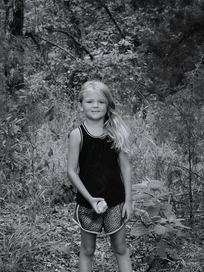 Grand daughter. Child Children Only Girls One Girl Only Three Quarter Length One Person Childhood Blond Hair Front View Standing People Long Hair Grass Outdoors Day Portrait Nature Smiling Adult Nature Trails Young Women One Young Woman Only Summer Summer Views Nature