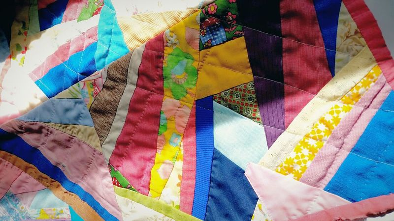 Lieblingsteil Multi Colored Textile Pattern Close-up Backgrounds Abstract Full Frame No People Indoors  Day Quilt Patchwork Creativity Colorful Art And Craft Heirloom Made By My Mom The EyeEm Collection EyeEm Diversity The Premium Collection