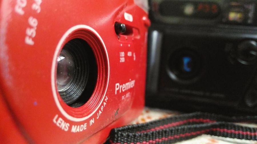 Focus On Lens Cameras Black Red Old Cameras Memories Good Thoughts  Indoors  What Buyers Want Close-up Luxury Day Check This Out No People Sport Maximum Closeness at Aurangabad India