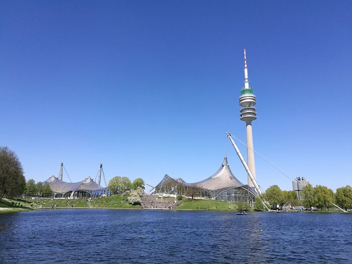 Olympiapark Travel Destinations Outdoors Architecture Sky Water Nature City Day Sun Olympiaparkmünchen Travel No People Building Exterior First Eyeem Photo