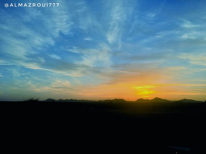 Sun Nature Beauty In Nature Tranquility Tranquil Scene Sunset No People Scenics Outdoors Landscape Silhouette Sky Day