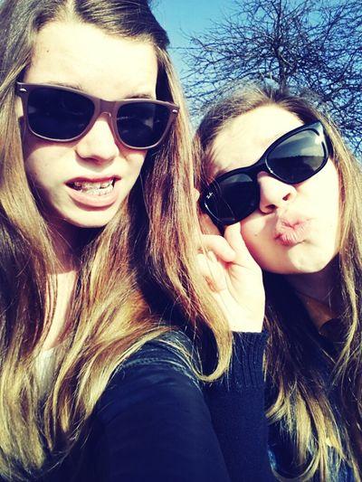Friends Eating Enjoying The Sun Sunglasses Haha Mango